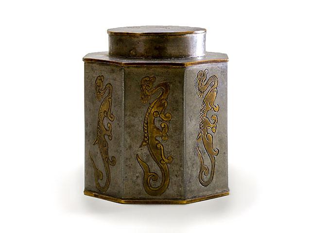唐物錫茶壷