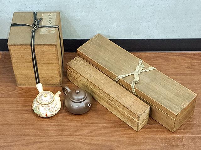 煎茶道具と掛軸